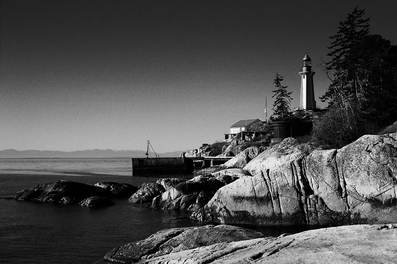 Lighthouse Point BW