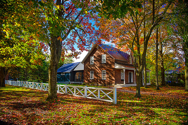 Brick House in Autumn